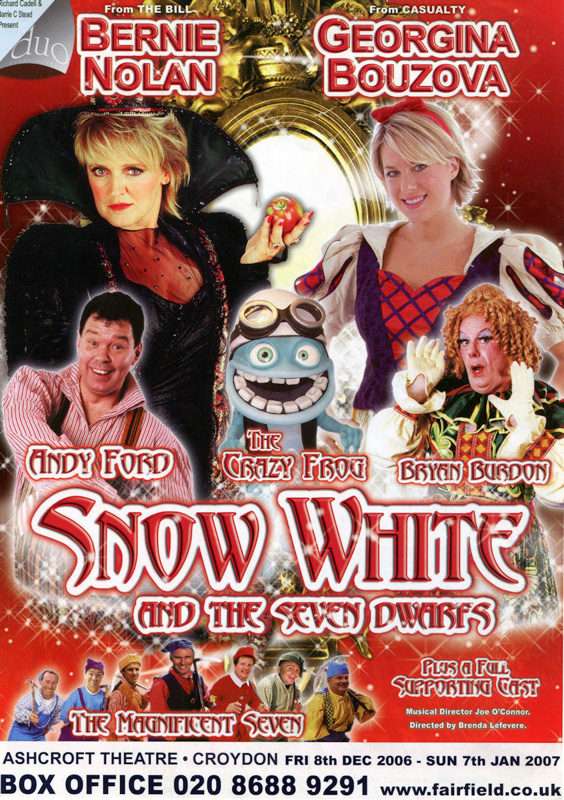 FLYER PANTO CHRISTMAS SNOW WHITE BERNIE NOLAN GEORGINA