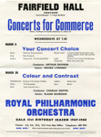 FLYER CLASSICAL CONCERTS FOR COMMERCE ROYAL PHILHARMONIC ORCHESTRA RPO; MAR 1967; 196703FA