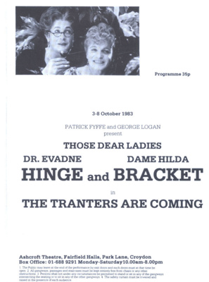 PROGRAMME THEATRE HINGE AND BRACKET; OCT 1983; 198310FC