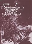 PROGRAMME MUSIC BECKENHAM SUMMER CHORAL FESTIVAL; JUL 1981; 198107FC
