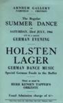 FLYER SUMMER DANCE GERMAN EVENING; JUL 1966; 196607BE