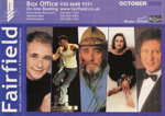 FAIRFIELD DIARY OCTOBER 2002 ROBERT LLEWELLYN, KEN DODD, DAVID ESSEX, DON WILLIAMS AND BELINDA CARLISLE; OCT 2002; 200210BB