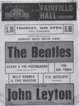 FLYER MUSIC THE BEATLES GERRY AND THE PACEMAKERS April 25th 1963; APR 1963; 196304FG