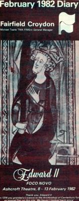 DIARY COVER THEATRE EDWARD II; FEB 1982; 198202FA