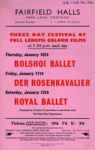 FLYER FILMS BOLSHOI BALLET; JAN 1963; 196301BE
