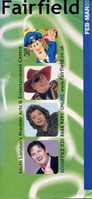 FAIRFIELD DIARY FEBRAURY AND MARCH 2005 TONY ROBINSON, JANE MCDONALD, JACK JONES, COLIN FRY, TONY HADLEY, MIDGE URE AND JO BRAND; FEB 2005; 20050203BB