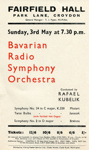 FLYER CLASSICAL BAVARIAN RADIO SYMPHONY ORCHETSTRA; APR 1964; 196404FA