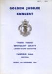 PROGRAMME GOLDEN JUBILEE CONCERT; NOV 1964; 196411BE