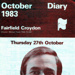 FAIRFIELD DIARY COVER KELLY MONTEITH; OCT 1983; 198310FA