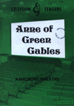 PROGRAMME CROYDON STAGERS ANNE OF GREEN GABLES; APR 1974; 197404BB