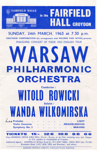 FLYER CLASSICAL WARSAW PHILHARMONIC ORCHESTRA; MAR 1963; 196303FA