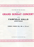 PROGRAMME MUSIC GRAND SUNDAY CONCERT SIR PHILLIP GAME BOYS CLUB CENTRE; MAR 1965; 196503FA