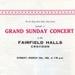PROGRAMME MUSIC GRAND SUNDAY CONCERT SIR PHILLIP GAME BOYS CLUB CENTRE; MAR 1965; 196503FA