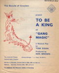 FLYER THE CROYDON SCOUTS TO BE A KING; OCT 1967; 196710BM