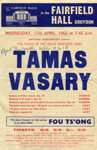 FLYER CLASSICAL TAMAS VASARY; APR 1963; 196304FA