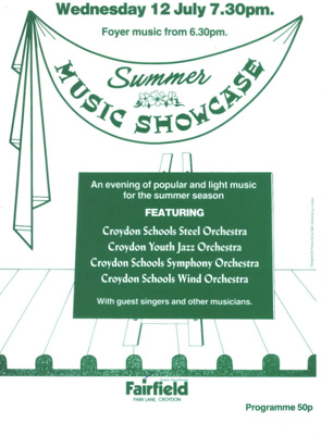 PROGRAMME SUMMER MUSIC SHOWCASE; JUL 1989; 198907FG