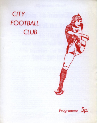 ASHCROFT THEATRE ZIGGER ZAGGER PROGRAMME CITY FOOTB; NOV 1974; 197411BB