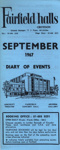 FAIRFIELD DIARY SEPTEMBER 1967; SEP 1967; 196709BB