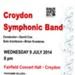 CROYDON SYMPHONIC BAND - FLYER; JUL 2014; 201407NB