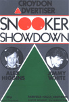 PROGRAMME SPORT ALEX HIGGINS JIMMY WHITE; MAR 1986; 198603FE