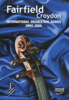 INFORMATION - MUSIC BROCHURE - INTERNATIONAL ORCHESTRAL SERIES 2004/2005; JAN 2004; 200410MA