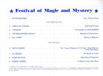 PROGRAMME FESTIVAL OF MAGIV AND MYSTERY ALI BONGO MARK RAFFLES ROBERT HARBIN; MAY 1966; 196605BA