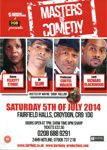 MASTERS OF COMEDY - FLYER; JUL 2014; 201407NE