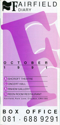 FAIRFIELD DIARY OCTOBER 1991 THE CHIEFTAINS, JACK JONES, VICTOR BORGE, DR HOOK; OCT 1991; 199110BB