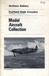 PROGRAMME ARNHEM GALLERY MODEL AIRCRAFT COLLECTION; MAR 1969; 196903BO