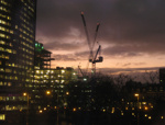 PHOTO OF THE NEW CROYDON COUNCIL BUILDING BEING CONSTRUCTED; JAN 2012; 201201FA