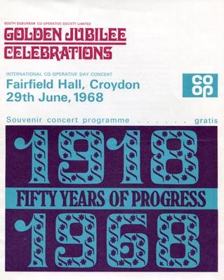 PROGRAMME MUSIC CO-OP GOLDEN JUBILEE; JUN 1968; 196806FA