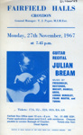 FLYER CLASSICAL GUITAR JULIAN BREAM; NOV 1967; 196711BS