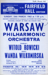 FLYER CLASSICAL WARSAW PHILHARMONIC ORCHESTRA; MAR 1963; 196303BO