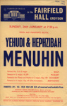 FLYER CLASSICAL YEHUDI AND HEPHZIBAH MENUHIN; JAN 1964; 196401BG