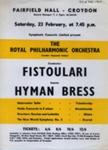 FLYER CLASSICAL ROYAL PHILHARMONIC ORCHESTRA HYMAN BRESS FISTOULARI; FEB 1963; 196302BI