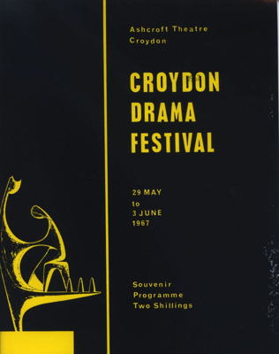 PROGRAMME CROYDON DRAMA FESTIVAL; MAY 1967; 196705BS