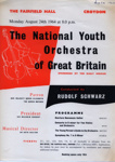 FLYER CLASSICAL NATIONAL YOUTH ORCHESTRA OF GREAT BRITAIN; AUG 1964; 196408BA