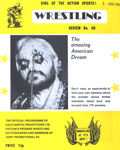 PROGRAMME WRESTLING AMAZING AMERICAN DREAM; NOV 1980; 198011FA