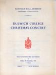 PROGRAMME DULWICH COLLEGE CHRISTMAS CONCERT; DEC 1966; 196612BG