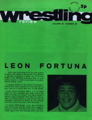 WRESTLING PROGRAMME LEON FORTUNA; JUN 1973; 197306BB