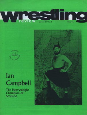 PROGRAMME WRESTLING IAN CAMPBELL SCOTLAND; FEB 1969; 196902BE