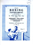 BOXING ARNHEM GALLERY SIR PHILLIP GAME BOYS CLUB; FEB 1970; 197002BB