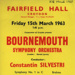 FLYER CLASSICAL BOURNMOUTH SYMPHONY ORCHESTRA VALERIE TYRON; MAR 1963; 196303BK