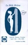 PROGRAMME CODA LA BELLE HELENE JAQUES OFFEN BACH; APR 1969; 196904BB