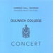 PROGRAMME MUSIC DULWICH COLLEGE CONCERT; DEC 1979; 197912FA