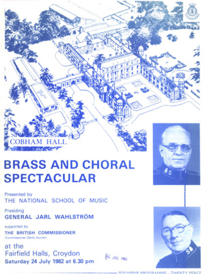 PROGRAMME MUSIC THE NATIONAL SCHOOL OF MUSIC; JUL 1982; 198207FA