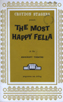 CROYDON STAGERS PROGRAMME THE MOST HAPPY FELLA; NOV 1970; 197011BE