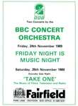 PROGRAMME BBC CONCERT ORCHESTRA FRIDAY NIGHT IS MUSIC NIGHT; NOV 1989; 198911FA