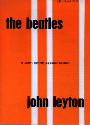 PROGRAMME THE BEATLES JOHN LAYTON MERSEY  BEATS SHOW CASE; APR 1963; 196304BK