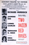 FLYER ASHCROFT THATRE GINA GIANELLI TWO DOZEN RED ROSES; JUN 1967; 196706BQ